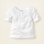 Блузка - Легкая хлопковая блузка на 24 мес. Белая