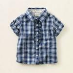 Рубашка - Рубашка в клеточку на 12 мес.Хлопок